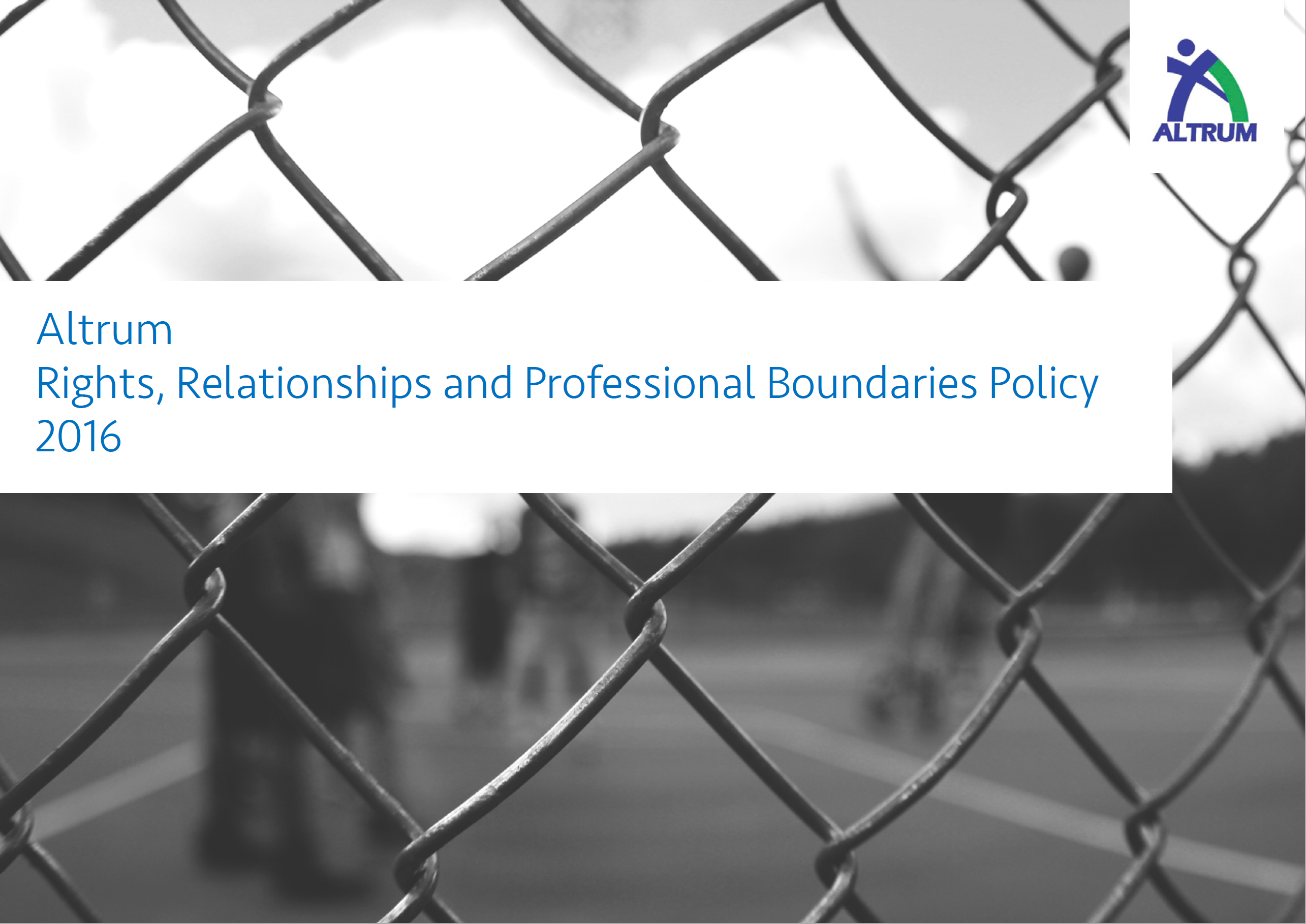 Rights, Relationships and Professional Boundaries Policy